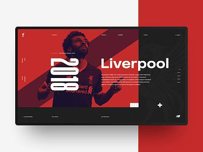 FC Liverpool liverpool design fifa football red minimal web ux ui