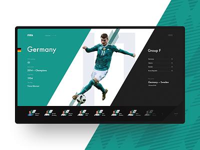 Germany FIFA World Cup 2018 ui sport minimal germany football fifa 2018