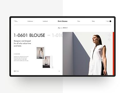 Port Zienna Website Redesign webdesign ux obys web fashion design minimal ui concept