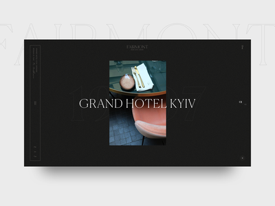 Fairmont Hotel hotel interaction ux minimal ui