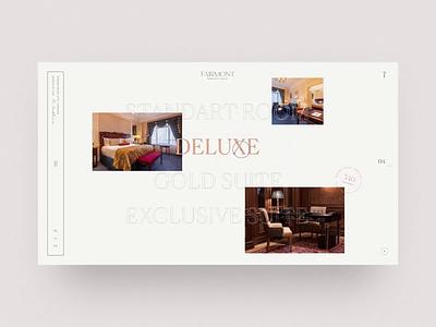 Rooms Fairmont luxury booking room hotel animation interaction minimal ui