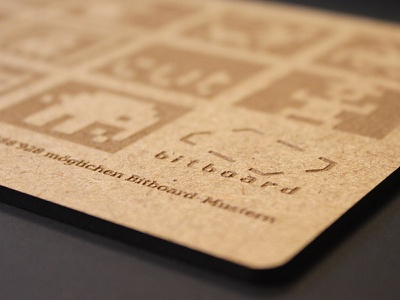 Bitboard voucher bitboard wood laser cutting board