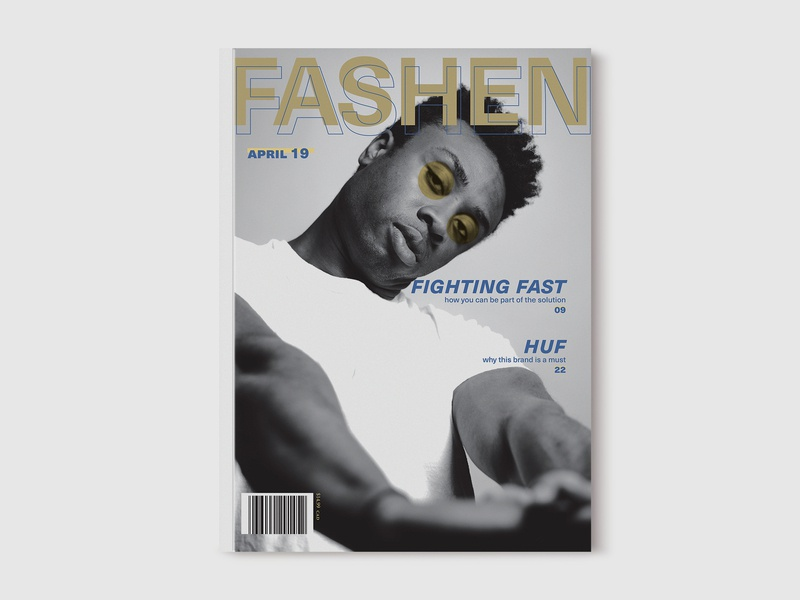 Fashen - Men's Fashion Magazine project magazine cover behance editorial design editorial indesign graphic design graphics design typography