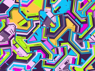 Funky vector pattern fresh repeat art print palette modernism funk funky art deco background digital painting digital art avant garde art direction abstract branding cover geometric geometry vector illustration