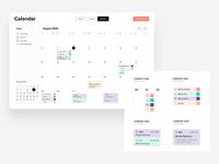 Responsive calendar UI - events categories information architecture ux mobile date calendar app calendar columns cell cards ui notes counter categories table filters entry event calendar timetable schedule calendar ui responsive design