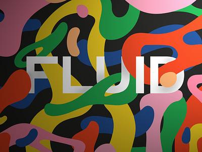 Fluid matter illustration print plasma art modern art deco digital painting blob plastic blend canvas print colors liquid motion flow matter fluid art direction print cover abstract vector illustration