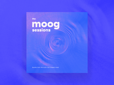 moog synth record cover album cover duotone album art music album vinyl print illustration wave waveform sessions compilation sound soundwave lp cover record music electronic synthesizer synth moog