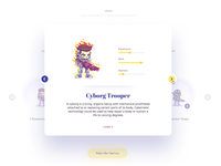 Gamification Characters Modal