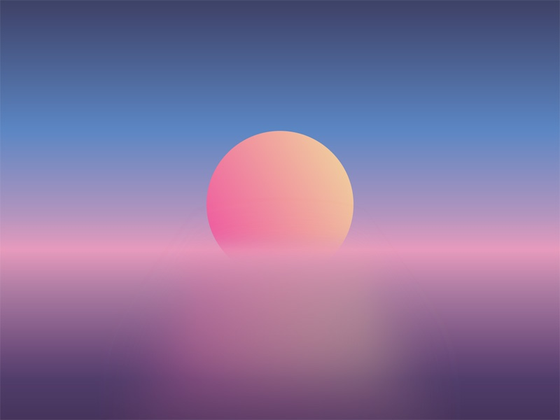 Gradient Sunset By Christos Dribbble Dribbble