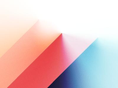 Composition 0407 abstract. lights vector digital-art mountain illustration gradients depth shadows landscape shapes 3d