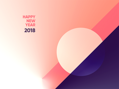 Happy New Year 2018 vector art modern happy swiss minimalism abstract art-direction 2018 contemporary wishes digital-art