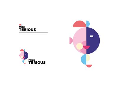Miss Terious brand exploration logotype logo-design minimalism vector illustration brand-identity branding geometry half-circle geometric-shapes mysterious miss