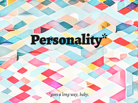 Personality goes a long way / cover illustration