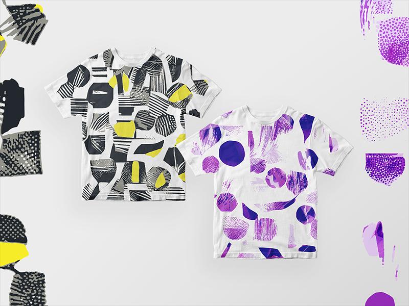 Abstract geometric t shirts