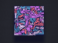 Retro funky digital composition