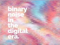 The era of digital noise - cover illustration