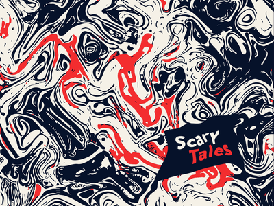 Scary Tales vector illustration illustrator art direction abstract shapes palette comic dark halloween scary book background art digital print cover tales liquid paths vector illustration