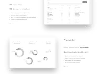 website v.2 wireframes screenshot service blog web app nlp artificial intelligence ai biomedical process flow landing page high fidelity research ui ux user experience product saas website homepage