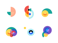 Geometric icon compositions