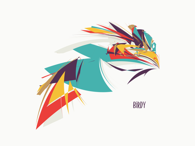 Birdy vector cover illustration