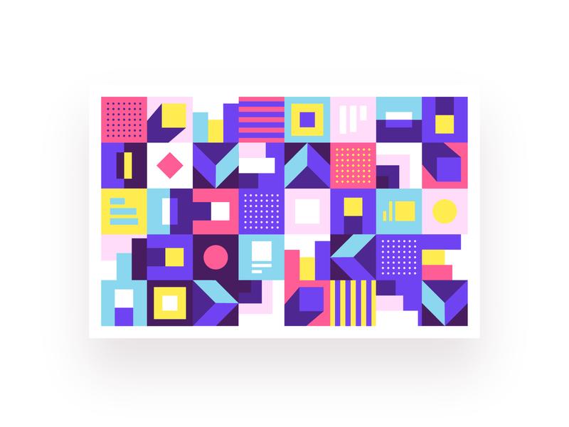 Brand decoration graphics chart seamless pattern tiles pattern grid poster design decoration brand identity cover print ui data brand shapes branding geometric art-direction geometry vector illustration