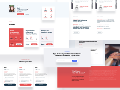 Online education / website design systemization design systems online seminars education lessons courses pricing plans profile cards grid shadows font combination typography bold ux  ui web design homepage branding ui art-direction