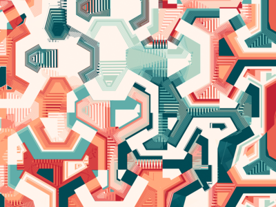 Tech paths / Digital illustration