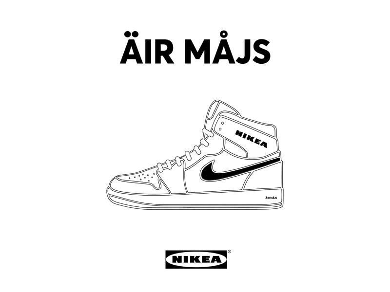 nikea air max / mashup product parody