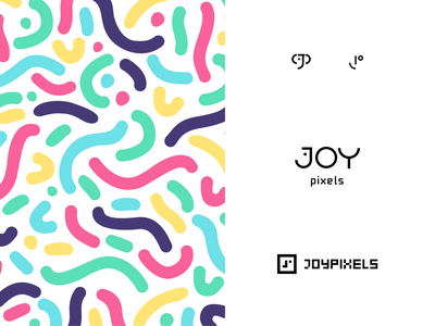 Joy Pixels brand discovery symbolism creative design art direction vector icon logomark symbol pixels palette vector illustration happy emoticon face smiley face pattern brand identity logo design logotype branding joy