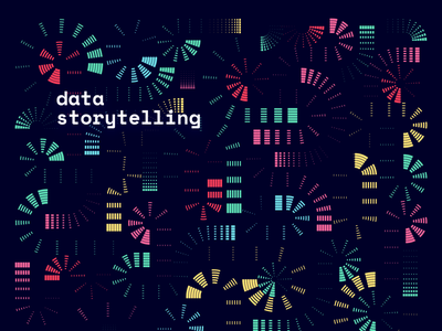 Storytelling with Data / editorial illustration chart visualization visual design pattern creative design shapes data science branding background art direction digital art cover abstract story storytelling data visualization data geometry vector illustration