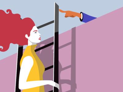 Nubefy Feminism Collection 2018 shutterstock digital art vector design violence powergirl mansplaning feminist feminism genre women woman nubefy illustration abuse