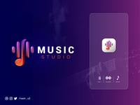 Music Studio Logo Design creative logo app logo design website logo corporate logo branding modern logo logo trends music studio logodesign modern colorful brand mark logo designer business logo vector logo symbol logotype brand identity branding