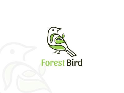 Forest Bird Logo minimalist creative logo logotype branding tree logo logodesign logo animal logo flat logo illustration leaf forest bird logo minimal simple clever creative design animal bird