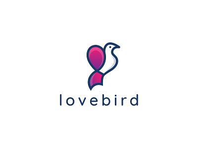 Heart with Bird Logo Design Love bird 2 creative clever simple minimal flat logo animal logo logodesign heart logo bird logo logotype modern minimalist creative logo branding logo valentine romance love bird heart