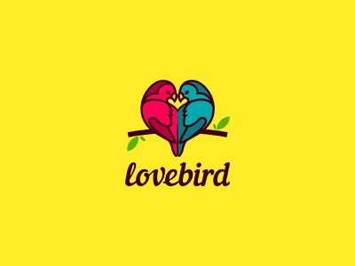 Love bird logo design 3 bird logo vector wellness parrot logo designer logo design branding brand identity creative logo logotype colorfull cute love unused illustration animal freedom logo bird heart