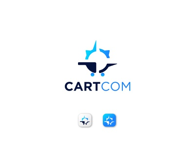 Cartcom Logo Design Concept app icon logo marks clean abstract logo logo mark online shop tech business logo app logo ui logo designer logo design logotype symbol creative logo branding logo shopping cart cart