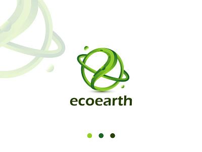 Earth Logo Design Concept - Letter e & earth mark minimal space green environment abstract globe planet letter logo earth logodesign logo mark vector logotype symbol brand identity logo design logo branding creative logo