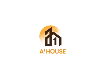 Real Estate Logo Design Concept - A1 HOUSE realestate brand and identity symbol mark icon hire logo designer minimalist logo abstract logo designer logodesign business logo logo design brand identity symbol monogram logotype logo branding creative logo real estate agency real estate logo