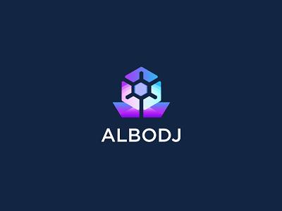 ALBODJ Logo Design Concept tech logo modern flower abstract logo logo business logo concept vector monogram brand identity logo design branding creative logo logotype