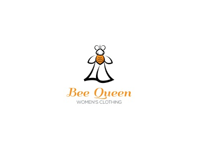 Clothing Brand Logo Design - Bee Queen queen bee fashion simple cloth store clothing company clothing brand bee logo symbol logo design logo creative logo illustration concept vector logo designer logotype brand identity branding