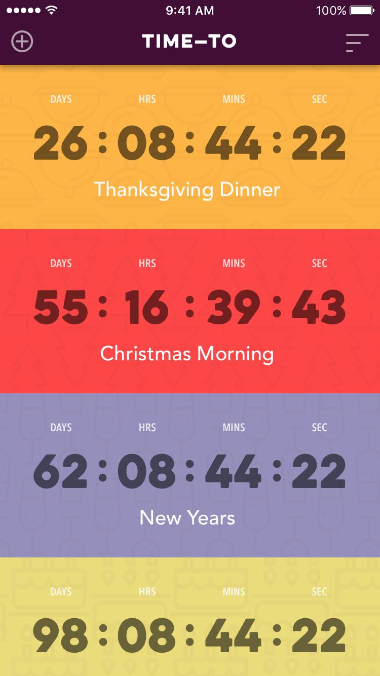 100daysui day14 countdown screen