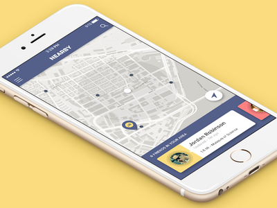 Nearby - A Friend Location Tracker nearby tracking map tracker location friends iphone app dailyui