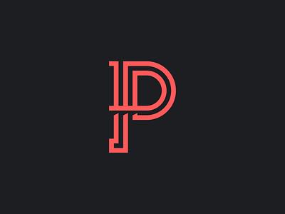 The Letter p single-line line logo aaronsalphabet alphabet typography type lettering p letter