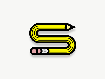 The Letter s 2 hb pencil aaronsalphabet alphabet typography type lettering s letter
