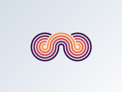 The Letter w gradient lines aaronsalphabet alphabet typography type lettering w letter