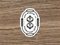 Cuh-Rushin' It Brogrammer Beer Sticker
