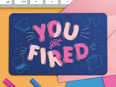 Fired corporate fired custom type hand drawn type illustration type typography lettering gift certificate gift cards gift card