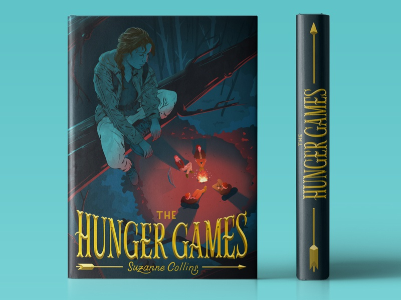 The Hunger Games Book Cover by Kat Goodloe on Dribbble