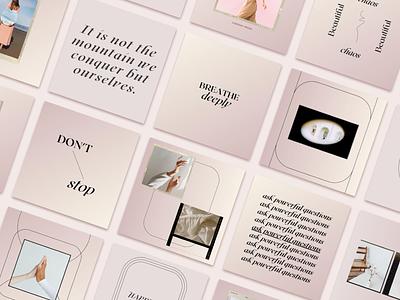 Instagram Branding layout design quote design graphicdesign pink blush brand design kit brand designer brand design instagarm template instagram posts instagram