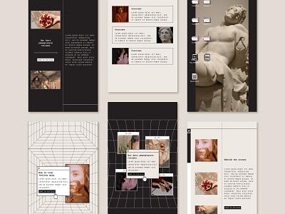 Instagram Story Template pixel font pixel art facebook post instagram instagram stories instagram templates instagram post branddesign ui instagram template visual design graphicdesign